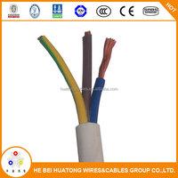 multi Cooper core RVV/BV/BVV eletrical wire flat cable made in china