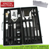 China Supplier Stainless Steel Handle Non-stick BBQ Tool Set