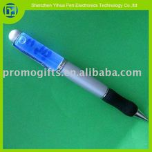 2015 hot sell liquid floating pen with led light,blue led floater pen