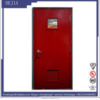 fire rated steel door with glass insert