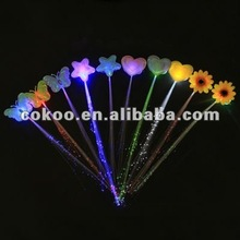 600pcs/lot 35cm Flashing LED Braid Novelty Decoration for Party Holiday Hair Extension led flashing hair clip