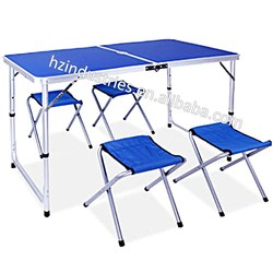 Portable folding camping table with cup holder for sale