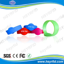 colorfull waterproof rfid id card wristband with low cost