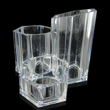 Transparent Acrylic Makeup / Cosmetic Tools Holder Organizer Stand with 3 Tiered Display Cups