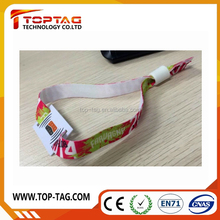Club Rfid Fabric Wristband / Rfid Smart card Bracelet