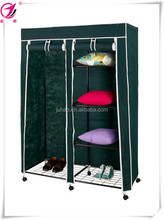 non-woven fabric wardrobe with casters Morden bedroom fabric wardrobe designs roller fabric wardrobe with wheels
