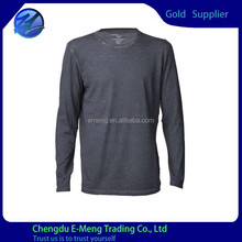 Long SLeeves New Design Good Quality Plain China Shirt in Dark Gray