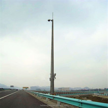 tubular tower/self supporting lightning-protection rod steel towe