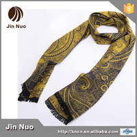 Woolen And Silk 180x30 Fashionable Men Long Scarf For Autumn And Winter