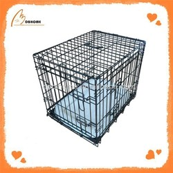 Solid metal galvanized outdoor dog kennel