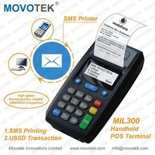 34 Movotek MIL300 GPRS GSM SMS Printer with High speed thermal printer for reliable SMS/USSD Transaction and Online Food Order