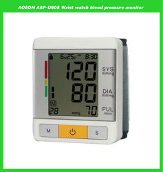 Automatic digital watch blood pressure monitor