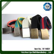 Fashion Men's Canvas Belt with Interchangeable Buckle