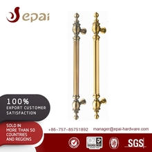 Luxury Classic Double Sided Gold Door Pull Handle For Commercial Door HB-340