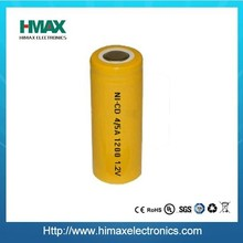 High quality NiCd AA 500mAh rechargeable Battery