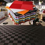 Polymer car floor mat fasteners for veranda
