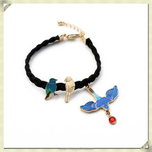 2015 Fashion bracelet artificial bird pendant bracelet fashion long chain bracelet (SJB-075)