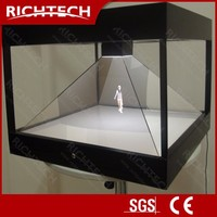 Newest 3D Richtech hologram showcase for mobile phone show