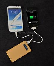 Aluminum Alloy ultrathin portable power bank 5000 MAH for iphone samsung htc