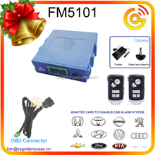 2015 Factory Price Smart Car Security Alarm control by cell phone app tracker optional FM5101