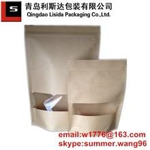 food packaging kraft paper bag with clear window