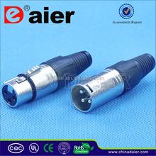 Nickel plated male 3 pole amplifier neutrik connector