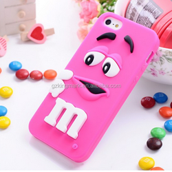 Hot Selling 2015 Cute M$M Bean Mobile Phone Cover For iPhone 5s 6G