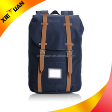2015 Alibaba china high school travel school canvas backpack