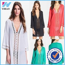 New 4 Colors Sexy Women Summer Boho Lace Chiffon Evening Short Beach Mini Dress Free Shipping