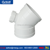 Upvc pipe fitting 45degree elbow with checking hole