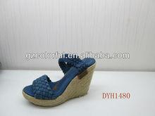 fábrica 2013 nuevo barato señoras sandalias de cuña