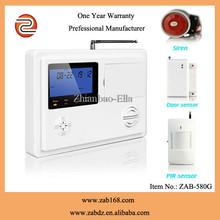 ZAB-580G,la venta caliente 99 Zonas de Defensa de inalámbricos,de alta calidad,sistema de alarma,GSM+PSTN doble red