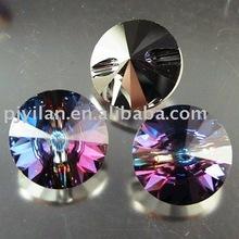 Cristal de la moda botón de muebles, botón de cristal para muebles