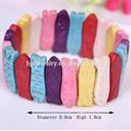 Gros colorful forme de poisson pierre perles bracelet bijoux