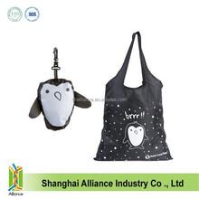 Foldable Tote bag hanger Animal Penguin Shape Folding Shopping Bag