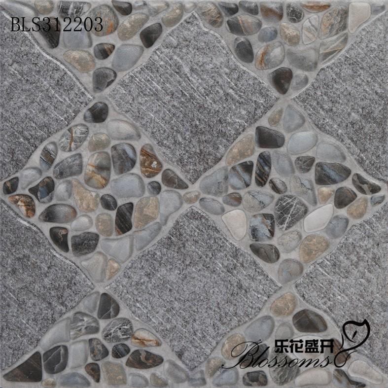 Exterior Non Slip Terra Stone Cobblestone Bathroom Floor Tile