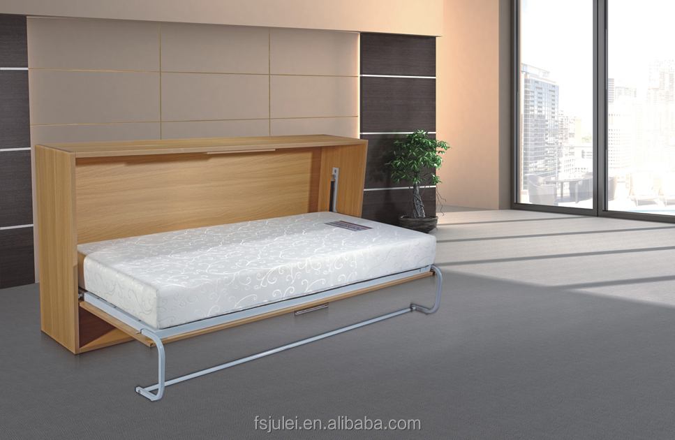 Single size fold up wall bed mdf murphy for guest room buy wall bed