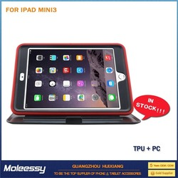 pc + silicone combo case for ipad mini case 2013