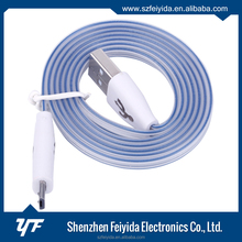 Removable assembly type 1M PVC + Optical fiber usb data cable with led light