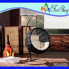 fansheng mobili da esterno melone pe rattan patio swing cum divano letto uso specifico set da giardino