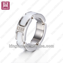 channel ring blanks white ceramic jewelry