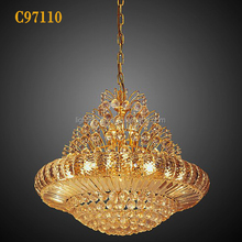 Crystal 12w rgb led chandelier washer light