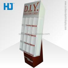 New Arrival Gift Card Display Stand, Cardboard Cells greeting card display racks