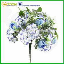 Wholesale cheap beautiful hydrangea bush artificial flower