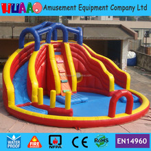 Commercial industrial hippo used inflatable water slide for sale