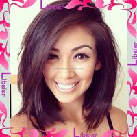Free Tangle&Shedding Brazilian Virgin Human Hair Cute Short Bob Wigs For Black Women
