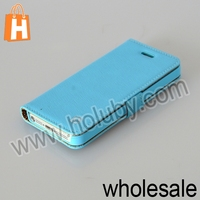 HOCO Cross Pattern Magnetic Flip Hard PC+Leather Case For iPhone 5 5S With Strap
