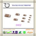 X7r 50 V 0-10nF 10% Chip de condensadores de cerámica 0402