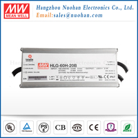 Mean Well 60w 20v single output switching power supply/60w waterproof led driver/power led driver