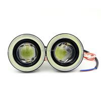 High Power 10W 3200LM Fog Angel eye COB LED daytime running light car Headlight